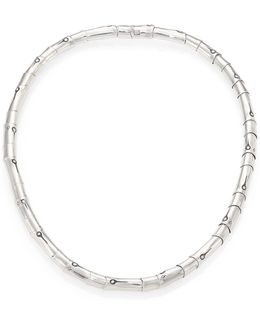 Bamboo Sterling Silver Necklace