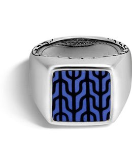 Classic Chain Sterling Silver Signet Ring