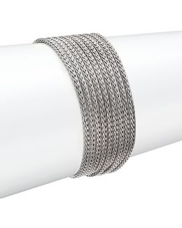 Classic Chain Sterling Silver Multi-row Bracelet
