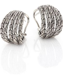 Classic Chain Small Sterling Silver Hoop Earrings/0.75