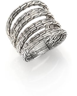 Classic Chain Sterling Silver Multi-band Ring