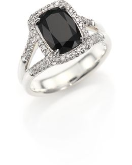 Classic Chain Batu Diamond, Black Onyx & Sterling Silver Ring