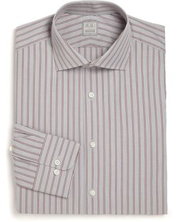 Regular-fit Lion Striped Dress Shirt