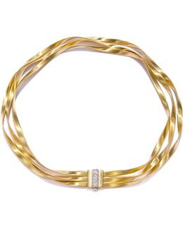 Marrakech Diamond, 18k Yellow Gold & 18k White Gold Multi-strand Necklace