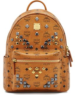 Stark M Stud Small Coated Canvas Backpack