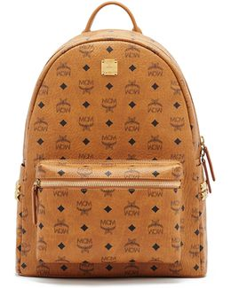 Stark Side Stud Coated Canvas Monogram Backpack