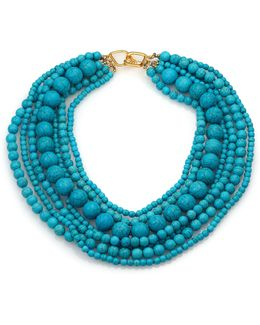 Seven Row Turquoise Necklace