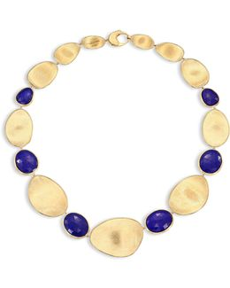 Lunaria Lapis & 18k Yellow Gold Collar Necklace