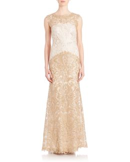 Embroidered Lace Gown