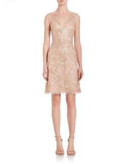 Embroidered Lace V-neck Dress