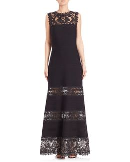 Lace-panel Gown
