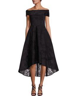 Off-the-shoulder Hi-lo Dress