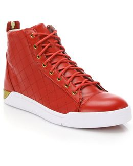 Tempus Diamond Leather High-top Sneakers