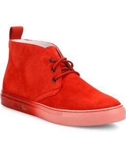 Faded Sole Suede Hi-top Sneakers