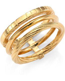 Armure Phalange18k Yellow Gold Vermeil Midi Ring