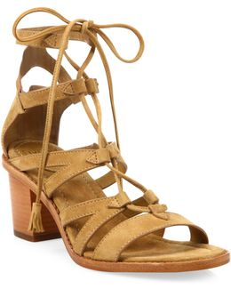 Brielle Suede Gladiator Sandals