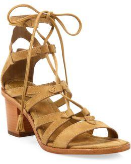 Brielle Suede Gladiator Sandals