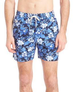Floral Print Board Shorts