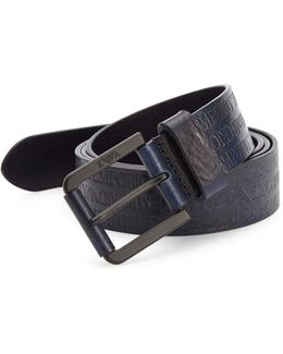 Stamped Logo Leather Belt