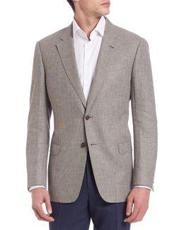 Long Sleeve Wool-blend Sportcoat