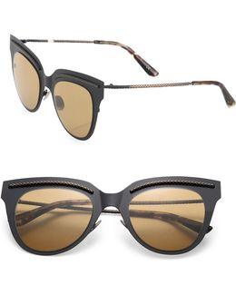 50mm Flat Metal Cat's-eye Sunglasses