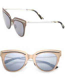 50mm Flat Metal Cat Eye Sunglasses