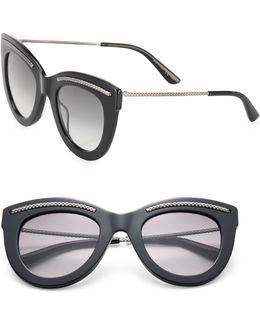 49mm Intrecciato-trim Cat Eye Sunglasses