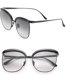 Conic Titanium 57mm Oversized Pantos Sunglasses