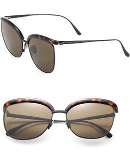 Conic Titanium 57mm Pantos Sunglasses