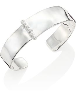 Glamazon Medium Diamond & Sterling Silver Cuff Bracelet