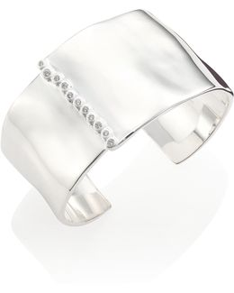 Glamazon Diamond & Sterling Silver Cuff Bracelet