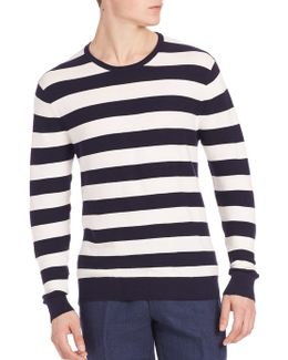 Cashmere Blend Striped Tee