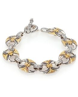 Hebe 18k Yellow Gold & Sterling Silver Bracelet