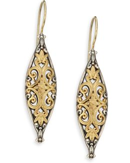 Hebe 18k Yellow Gold & Sterling Silver Drop Earrings