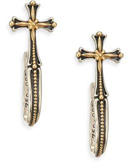 Engraved Cross Earrings