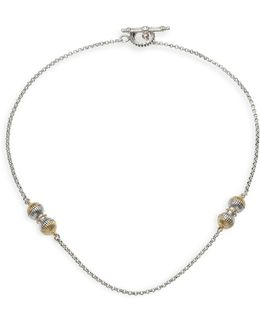 Hebe 18k Yellow Gold & Sterling Silver Chain Necklace