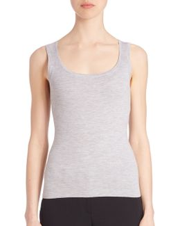 Fitted Cashmere Tank