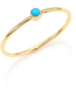 Turquoise & 14k Yellow Gold Ring