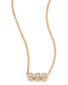 Diamond & 14k Yellow Gold Pendant Necklace