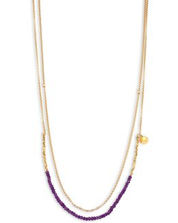 Biography Amethyst Beaded Double-strand Necklace
