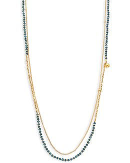 Biography Ocean Quartz Beaded Double-strand Necklace