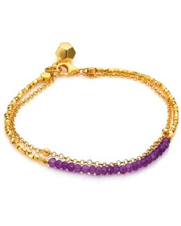 Biography Amethyst Beaded Friendship Bracelet