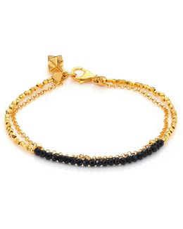 Biography Black Spinel Beaded Friendship Bracelet