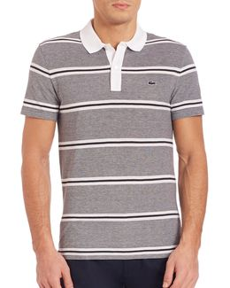 Pique Double Stripe Polo Shirt