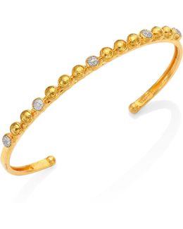 Amulet Hue Diamond, 24k Yellow Gold & 18k White Gold Cuff Bracelet