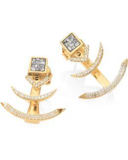 Tulum Miranda Champagne Diamond & Sliced Raw Diamond Ear Jackets