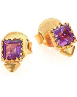 Tulum Oberon Stud P Amethyst Earrings