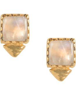 Tulum Oberon Stud M Moonstone Earrings