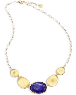 Lunaria Lapis & 18k Yellow Gold Graduated Necklace