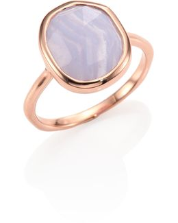 Siren Medium Blue Lace Agate Stacking Ring